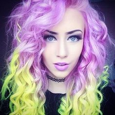#coloured #hair ♥️ I bet you wish you have hair like this - Enjoy with love from http://www.shop.embiotechsolutions.co.uk/AquaFresh-EM-Ceramics-Water-Butt-Treatment-250g-AquaFresh250.htm.
