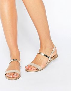 Discover our range of women's shoe styles at ASOS. From boots, to wedged sandals and elegant loafers. Browse our collection and order now at ASOS. Pretty Sandals, Cute Sandals, Pretty Shoes, Shoes Flats Sandals, Flat Sandals, Gladiator Sandals, Women's Shoes, Fashion Sandals, Fashion Boots