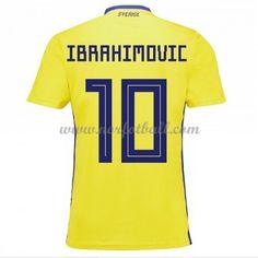620f9196 Billige Sverige Drakt VM 2018 Zlatan Ibrahimovic 10 Kortermet Hjemme  Fotballdrakter