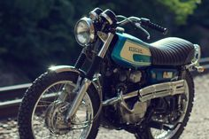 What I learned to ride one, a Honda CL. Can it be any cuter?!!!! Love it, simple, old, memorable!