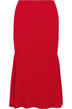 Red wool-blend Slips on  98% wool, 2% polyamide Dry clean   Made in Italy