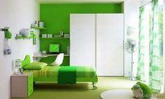 dormitorio verde niño