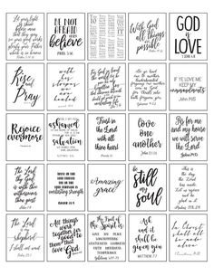 Calligraphy Discover PRINTABLE Planner Stickers Bible Verse Black and White Inspirational Christian PDF and JPEG Scripture Verses Digital Religious Organization Sticker Printable, Free Printable Quotes, Printable Bible Verses, Printable Planner Stickers, Scripture Verses, Printable Cards, Scriptures, Free Printables, Kalender Design