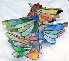 stained glass chicken mobile!!