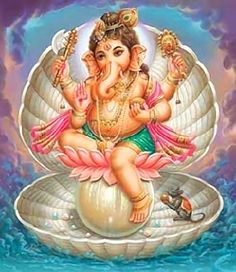 Hindu Cosmos - Lord Ganesha (via purple poise) Shri Ganesh, Ganesha Art, Krishna Art, Lord Ganesha, Lord Shiva, Sai Baba Pictures, God Pictures, Indian Gods, Indian Art