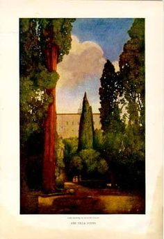 Italian Villas and Their Gardens: The Villa d'Este by Edith Wharton illustrated by Maxfield Parrish, ca.1903. Published by Century Magazine