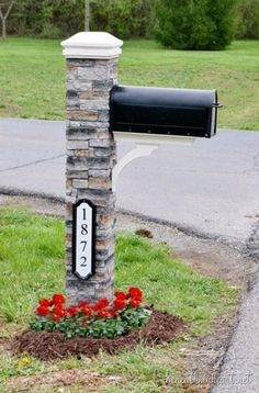 Creative Ways to Increase Curb Appeal on A Budget - Mailbox Makeover Tutorial - Cheap and Easy Ideas for Upgrading Your Front Porch, Landscaping, Driveways, Garage Doors, Brick and Home Exteriors. Add Window Boxes, House Numbers, Mailboxes and Yard Makeovers http://diyjoy.com/diy-curb-appeal-ideas