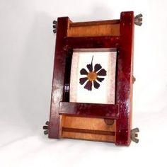 Marco de Fotos industrial Color Caoba, Industrial, Clock, Antiques, Metal, Wall, Vintage, Home Decor, Tv Wall Hanging