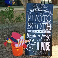 Photo Booth Prop Sign - Strike a Pose Photo Booth Sign - Grab a Prop - Strike a Pose! Picture Booth, Diy Photo Booth Props, Photo Booth Frame, Wedding Photo Booth, Christmas Photo Booth Backdrop, Christmas Photo Props, Wedding Shoot, Backyard Carnival, Diy Carnival