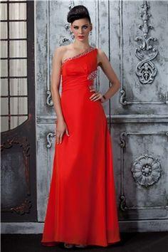 Chic Sheath Column One Shoulder Floor Length Polinas Evening Prom Dress