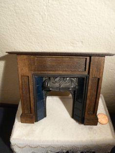 It is a scaled example of a century New England tall chest with graduated drawers. Dollhouse Miniatures, Dollhouse Interiors, Miniature Furniture, Fireplace Mantels, Dollhouses, Cardboard Houses, England, Room Decor, Coventry