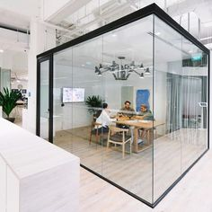 A little glass box full of BIG ideas. Box Architecture, Historical Architecture, Shared Office, Glass Boxes, Coworking Space, Home Improvement, Home And Family, Big Glasses, Home And Garden