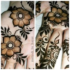 Floral henna! Flowers. Power.
