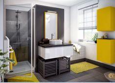 Salle de bain Pure par Cuisinella : Une salle de bains coloréepour une ambiance pétillante - Journal des Femmes