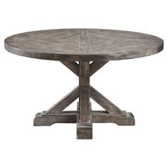 Found it at Wayfair - Bridgeport Round Dining Table in Grey 36w x 20h $!89