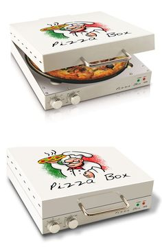 Another fun kitchen gadget, here comes CuiZen Pizza Box Oven. See it here==> | One Of A Kind Pizza Box Oven By CuiZen | http://gwyl.io/pizza-box-oven/