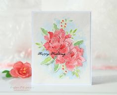 CASometry Challenge Make five: Stage 4 Altenew Cards, Peonies Bouquet, Watercolor Cards, Flower Cards, Creative Cards, Hello Everyone, Wedding Cards, Cardmaking, Birthday Cards