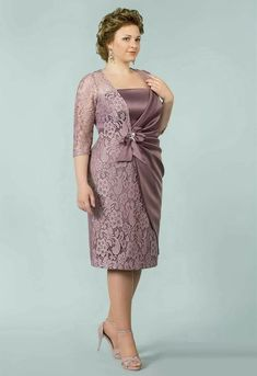 Mother of the Bride Dresses and Outfits Mother Of Bride Outfits, Mother Of Groom Dresses, Bride Dresses, Casual Party Dresses, Stylish Dresses, Vestidos Plus Size, Plus Size Dresses, Mom Dress, Lace Dress
