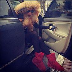 Fur hood!