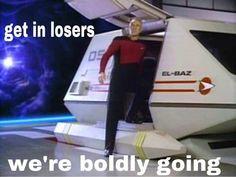 "Star Trek: The Next Generation ""Time Squared"" Star Trek Data, Star Trek Meme, Starship Enterprise, Love Stars, Geek Culture, I Laughed, Nerdy, Sci Fi, Geek Stuff"