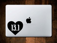 13.1 Half Marathon Heart Decal Sticker Runner Decal MacBook Car Decal by NebraskaVinyl on Etsy