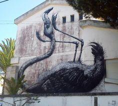 Otro mural de ROA en Portugal