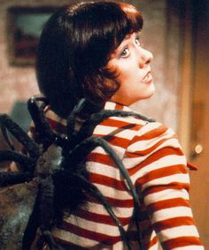 There's something on your back Sarah Jane! Planet of the spiders.