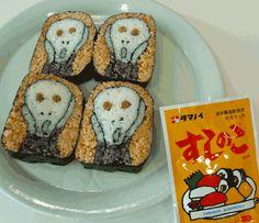 The Scream (Edvard Munch) sushi roll                                                                                                                                                                                 もっと見る