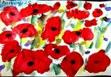 Poppies based on Monet and Van Gogh