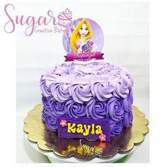 Rapunzel Birthday Cake, Rapunzel Cake, Buttercream Cake, Fondant Cakes, Lion Cakes, Disney Desserts, Bakery, Birthdays, Cupcakes