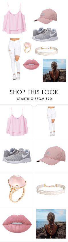 """Untitled #54"" by princess3382123 on Polyvore featuring MANGO, NIKE, adidas, Goshwara, Humble Chic and Lime Crime"