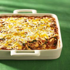 This crowd pleasing dinner-in-one casserole recipe is perfect when you have many at the table — a snap to make, easy to serve and faster to cook than a frozen lasagna. PLUS – you get all four food groups in this one dish, so good nutrition just takes care of itself. Lean Ground Round delivers BIG BEEF flavour as well as 14 essential nutrients including all five B-complex vitamins.