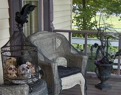front porch gothic halloween decorations | Halloween Home Ideas: Front Porch Ideas