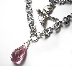 Sandman-inspired necklace Bird necklace Neil by DoBatsEatCats, $45.00