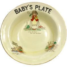 "BOVEY POTTERY CO. LTD - 'Little Bow Peep Has Lost Her Sheep'   Nursery Rhyme - Child's Cereal Bowl - ""baby's plate"" Sheep Nursery, Nursery Rhymes, Baby Plates, Little Bow, Cereal Bowls, Losing Her, Earthenware, Devon, My Childhood"
