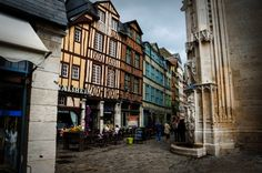 Around Rouen old town, Rouen France Day Trip, Old Town, Cathedral, Europe, France, Places, Cathedrals, Early French, Lugares