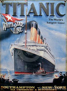 Old advert - Titanic. Very old advert of titanic cruise , Old Advertisements, Retro Advertising, Retro Ads, Vintage Ads, Titanic Sinking, Rms Titanic, Southampton New York, Etiquette Vintage, Old Movie Posters