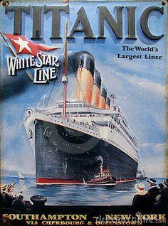 Old advertisement - Titanic by Jaroslaw Kilian