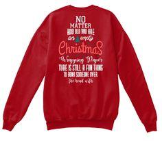 Christmas Fashioin Deep Red  T-Shirt Back