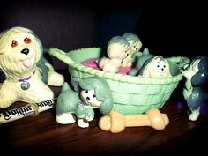 Little Pet Shops, when they were not scary looking. Totally still have these packed away some where