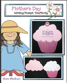"""Mother's Day Writing Prompt Craftivity  Mother's Day is just around the corner so here's a simple card your kiddos can make.  The """"My mom is really sweet because..."""" writing prompt cupcake card is a quick easy and fun """"craftivity"""" that's sure to become a special keepsake. For that finishing touch I used a scrapbook roller that crinkles paper and had my students run their cupcake """"liner"""" pattern through it. They love doing this and it's great for strengthening those finger muscles. You can…"""