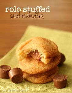 Rolo Stuffed Snickerdoodles from SixSistersStuff.com. Our favorite snickerdoodle recipe with a delicious twist! #sixsistersstuff