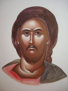 Face of Christ. Style of Theophanes. Stage 3.
