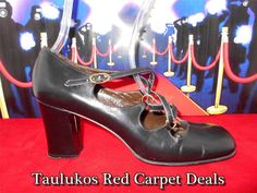 $9.97 Start Very #Vintage #QUALICRAFT High #Heels #DANCE #MaryJane toe #Strappy #BLACK Women's #shoes  Perfect to dance the night away!