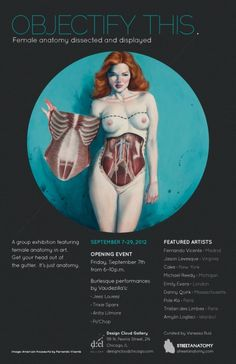 OBJECTIFY THIS: Female anatomy dissected and displayed