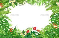 Tropical Plants Frame