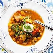 Vegetarisk soppa från det franska lantköket