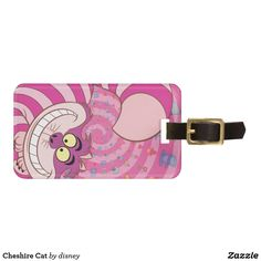 Cheshire Cat Luggage tag  #cat #cute #luggagetag #travel #kids #pink #holiday #cheshire