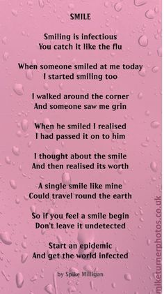 Smile: A Poem By Spike Milligan | Mike Turner Photoshoots