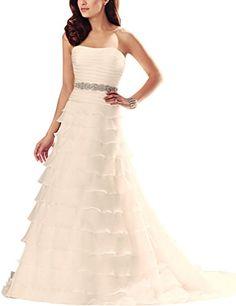 ModeC Strapless Pleats Organza Tiered Wedding Dresses For... https://www.amazon.com/dp/B01IODJ6K4/ref=cm_sw_r_pi_dp_B8aNxbV8JPQMV